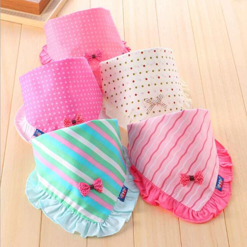 Newborn Baby Bibs Slabbetjes Lovely Solid Girls&Boys Burp Cloth Infant Lace flower Bibs Baberos Infant Saliva Towels