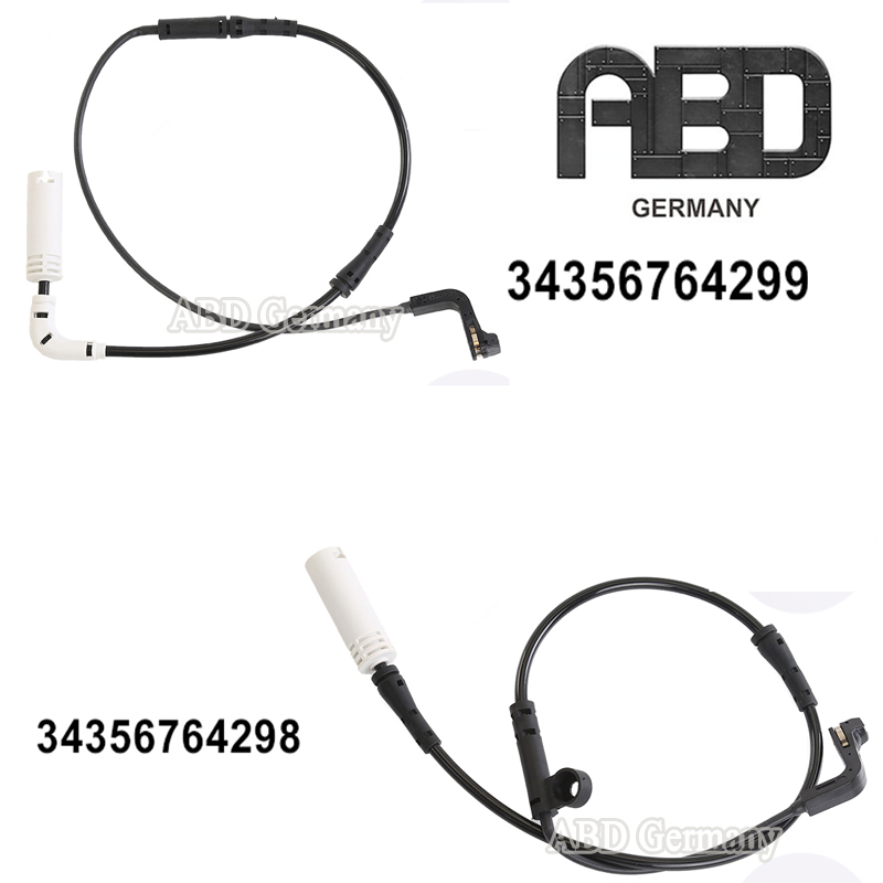 X AUTOHAUX 34356792571 Auto Vehicle Rear Brake Pad Wear Sensor for 11-16 BMW X6 X5