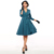 Sisjuly vintage skater dress 1950 s primavera verano v neck turn Abajo Una línea wommen Vestidos de Fiesta 2017 de La Vendimia femenina dress