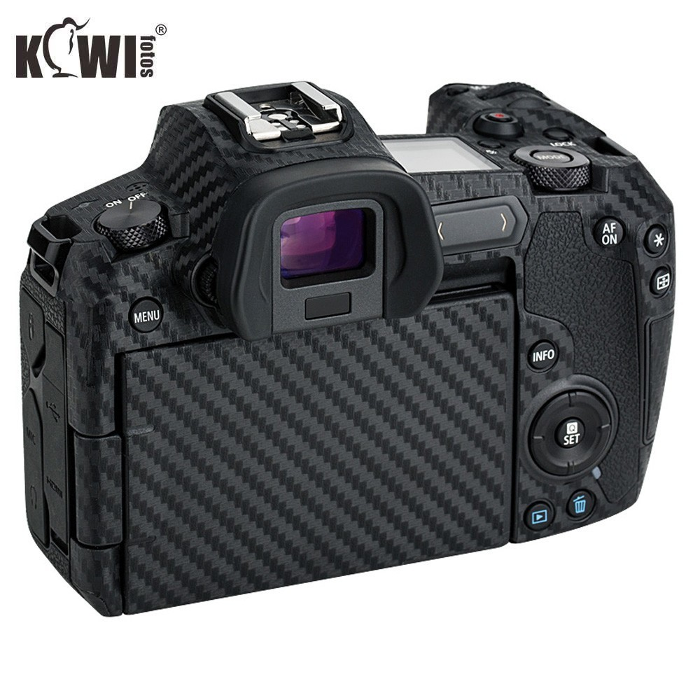 KIWIFOTOS KS-RCF Camera PremiumCarbonFiberFilm Kit For Canon EOS R Cameras Decoration Protection