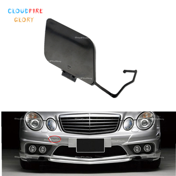 CloudFireGlory 2118851022 Front Bumper Tow Hook Cover Cap Unpainted Primed For Mercedes Benz E Class W211 E200 E280 E350 E500 image