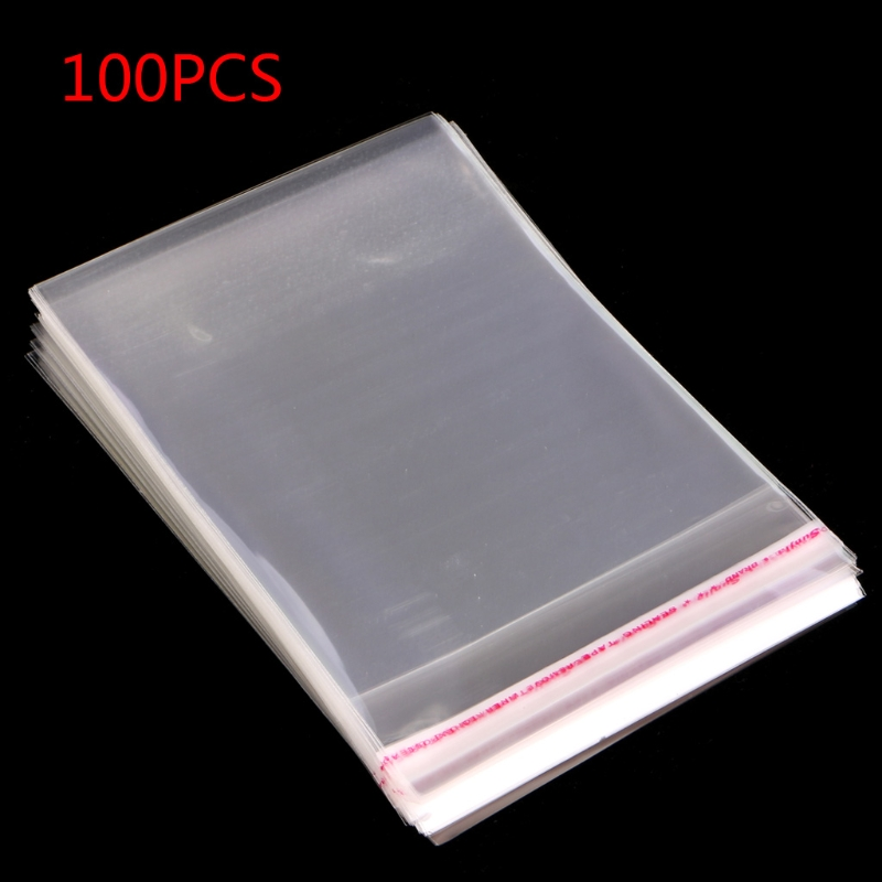 Lot 100pcs 5 Sizes OPP Plastic Clear Seal Pack Self Adhesive Jewelry Bags