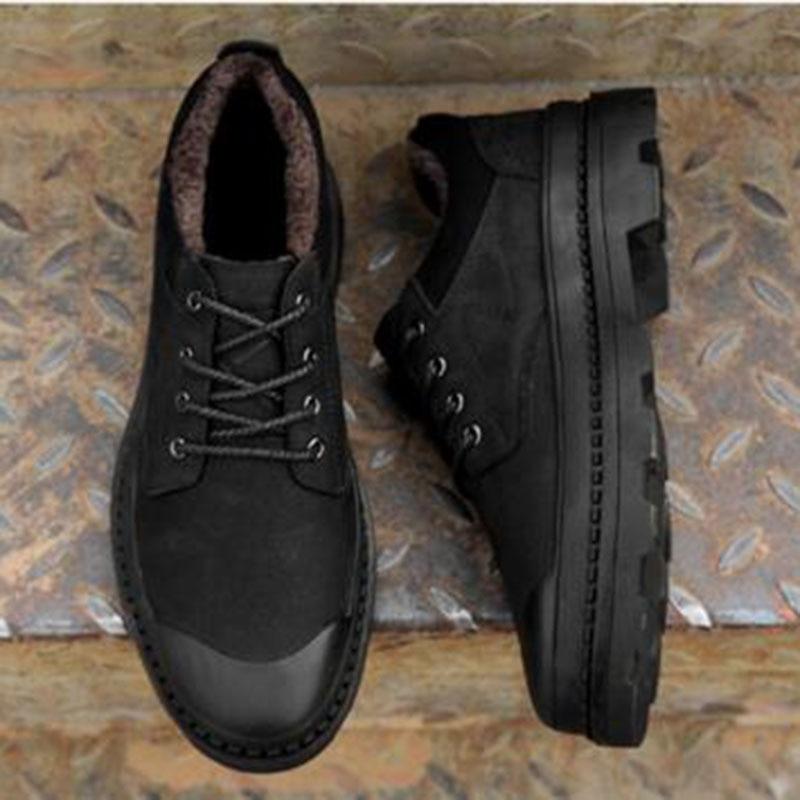 Otoño invierno caliente venta hombres plataforma zapatos de cuero - Zapatos de hombre - foto 5
