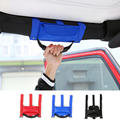 Unique Designs Red Black Blue Car Grab Handles Grip Handle with Storage Bag for Jeep Wrangler Roll Bar for Off Road Enthusiasts
