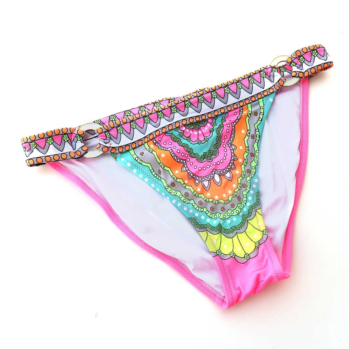 14f1ccd4481b9 ... Оптовая Продажа Бикини Низ розовый принт бразильский Cheeky Bottom  купальник Biquini бикини сексуальный секрет одежда заплыва