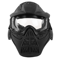 Líder En Forma de Máscara Táctica CS Bala Suave Operación de Campo Al Aire Libre Máscara Protectora para Nerf Dart