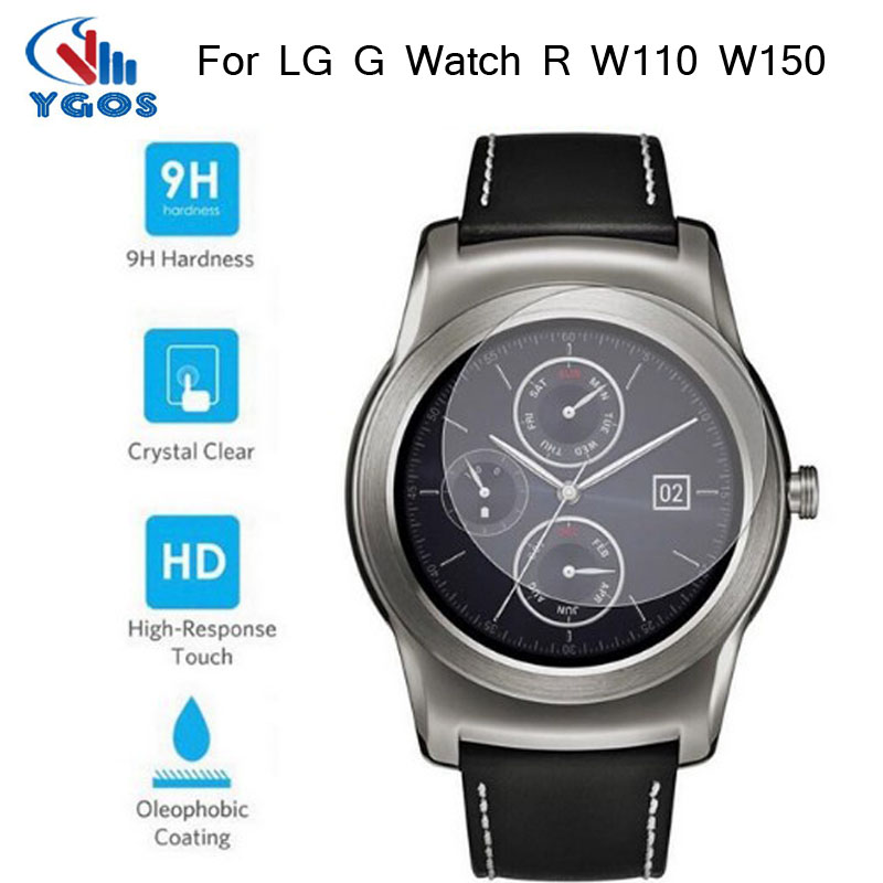 Pelicula 9H Hard Tempered Glass Screen Protector For LG G font b Watch b font R