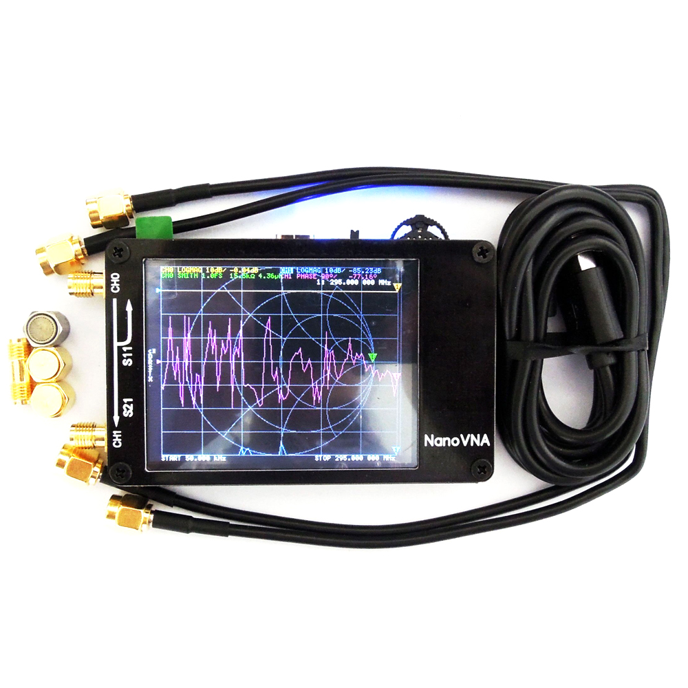 Antennas Analyzer Professional Portable Handheld Digital Shortwave MF HF VHF UHF 50KHz-900MHz Vector Network Analyzer
