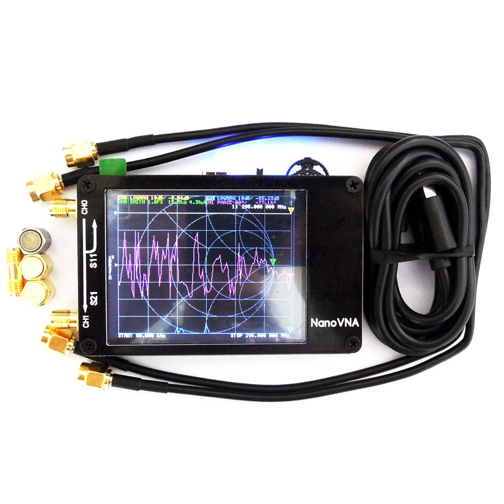 เสาอากาศ Analyzer Professional แบบพกพาคลื่น MF HF VHF UHF 50 KHz-900 MHz Vector Network Analyzer