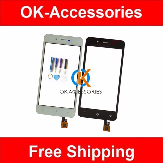 4.7 Inches For Micromax Canvas Spark Q380 Touch Screen Touch Digitizer 1PC/Lot Black White Color With Free Tools