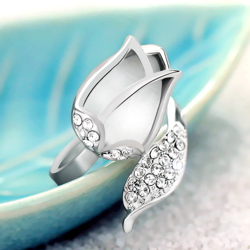 Special Gifts For Women Part - 16: Aliexpress.com : Buy Special New Fashion Flower Rings Opal Stone Engagement  Ring Girls Wedding Rings Gifts For Women Girls JZ150410 From Reliable Gift  ...