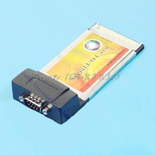 PCMCIA to RS232 Serial DB9 I O Card Adapter Notebook PC -R179 Drop Shipping pulse i o card cqm1h plb21
