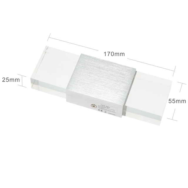 Hohe Helligkeit 2 Watt AC110 240V Schlafzimmer Leuchte LED Wandleuchte Lampe  Acryl Moderne Kristall Energieeffiziente