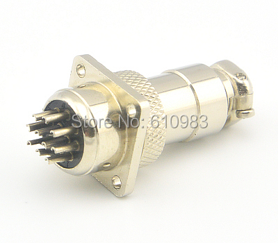 1 Piece Free shipping 10 Pin XLR Socket Plug Wire Connector 16mm 10PinPanel Mount Aviation Radio Connector fender 9050 s stainless steel bass flatwound strings 5 string 90505l 90505m