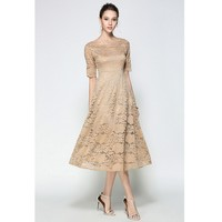 Ysmarketエレガント半袖ドレス用十代の若
