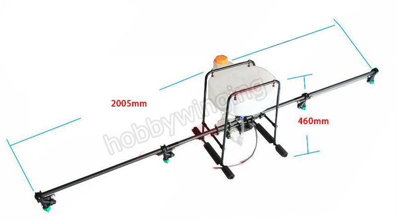 10KG/10L Spraying Gimbal sprayer Spray System Aluminum landing gear+carbon tube+water pump Agricultural agriculture drone