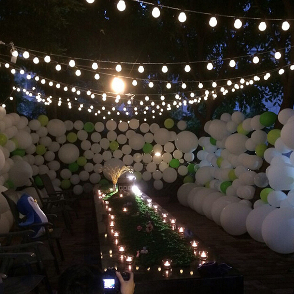 10 M 38 LED guirlande lumineuse d'extérieur fée lumières guirlande G50 ampoules jardin Patio mariage décoration de noël chaîne lumineuse étanche - 2