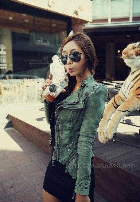 d75568fbc979 Original Women s Sharp Power Punk Studded Shoulder Rivets Motorcycle  Notched Lapel Denim Jeans Tuxedo Coat Jacket Outerwear Plus-in Basic Jackets  from ...