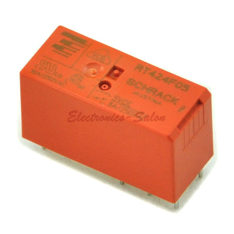 TYCO RT424F05 Bistable 2 Coils Latching DPDT Industrial 8A Power Relay,DC5V