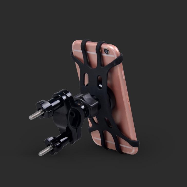 2018 INIZEAL Motorcycle Handlebar Phone Holder Mount Support Bike Adjustable Stand Anti-Slip Silicone Bicycle Phone Holder Bike thumbnail