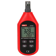 UNI-T UT333 Mini Temperature Humidity Meter Indoor Outdoor Hygrometer Overload Indication Unit Conversion LCD Backlight