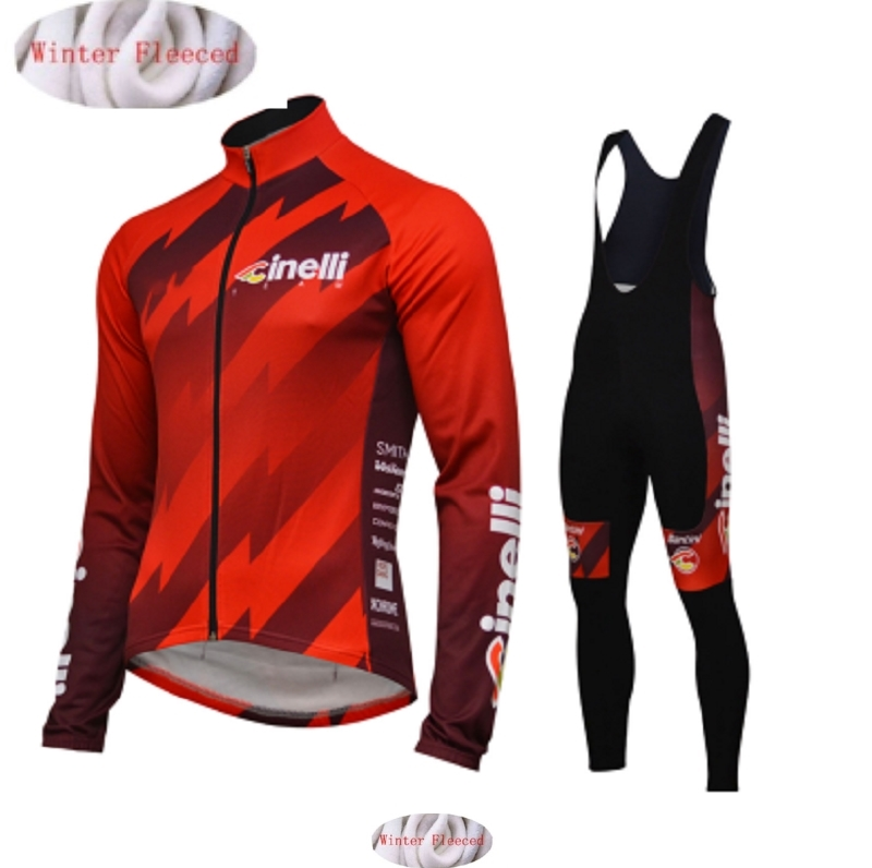 2019 Cinelli Cycling Winter Thermal Fleece Clothes Set Men Warm Jersey Jacket Clothing Bike Wear Bicycle Maillot Ropa Ciclismo