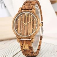 reloj femenino Stylish Full Wooden Watch Quartz Hours Display Womens Watches Unique Wood Bracelet Wristwatch New Arrival 2019