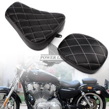 Motorcycle Front Driver+Rear Passenger Two Up Seat Sofa Tour Bench Rear Cushion Fits for Harley Sportster 883 1200 Custom