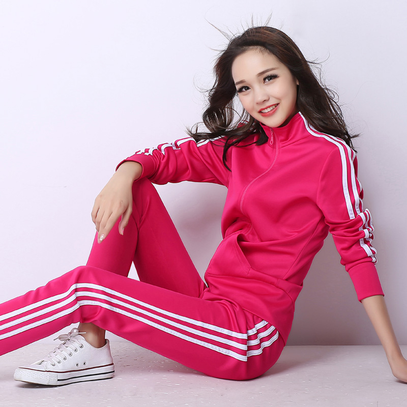 Exercise Set Women 2020 New Spring And Autumn Student Clothing Female Sportswear Slim Casual Sweatshirt Pant Teenager Girl 5Xl