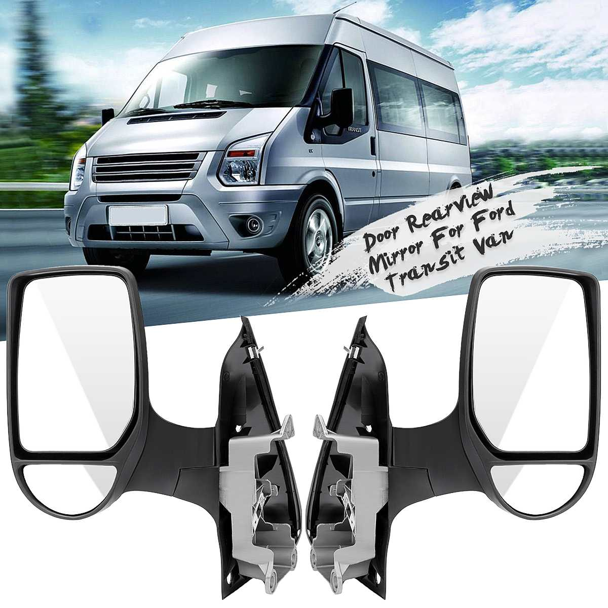 Ford Transit Mk6 Mk7 2000-2014 Pair Of Door Mirror Glasses Left /& Right