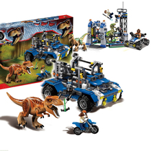 Jurassic World Park Dinosaurs Figures Tyrannosaurus Velociraptor Assemble Blocks Classic with Kids Toy Compatible With Sermoido
