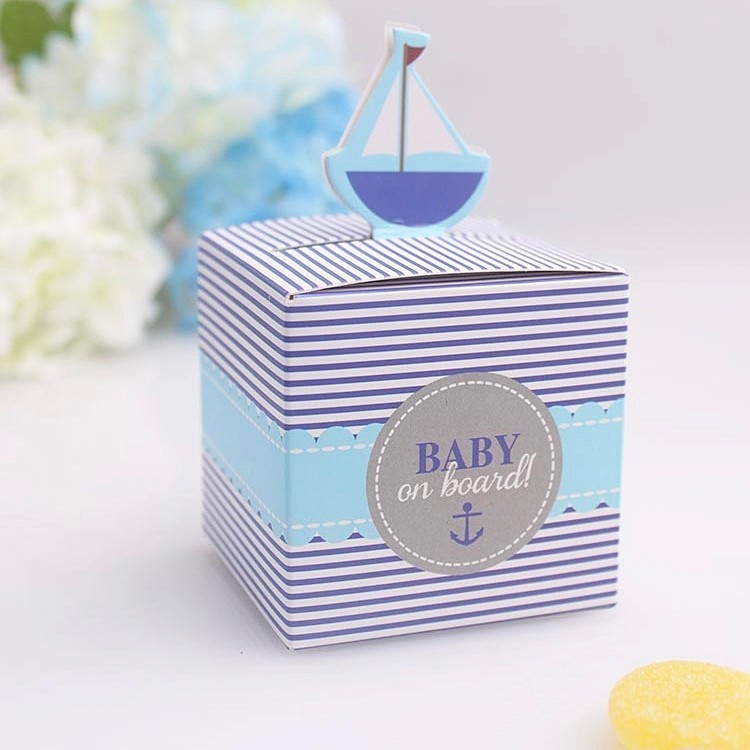 Free shipping party gifts box Baby on Board! Pop-Up Sailboat Favor Boxes and wedding candy box 50pcs/lot ...