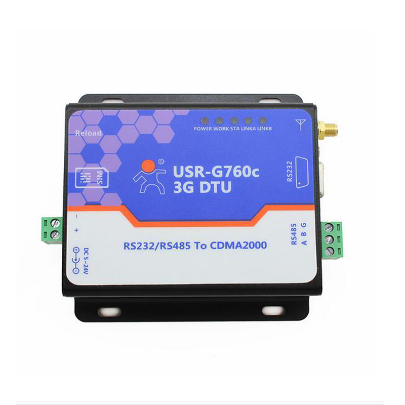 USR-G760c Free Shipping RS232 to 3G DTU RS485 to 3G DTU Support Remote Parameter Setting via SMS Controller Converter usr g301c free shipping usb to cdma 1x usb ev do uart to 3g module sms function supported 2pcs lot