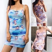 Super Deals Women Women Sexy Dress Fashion Women Sleeveless Cupid Angle  Print Bodycon Casual Mini Strap 5aa0c39d5633