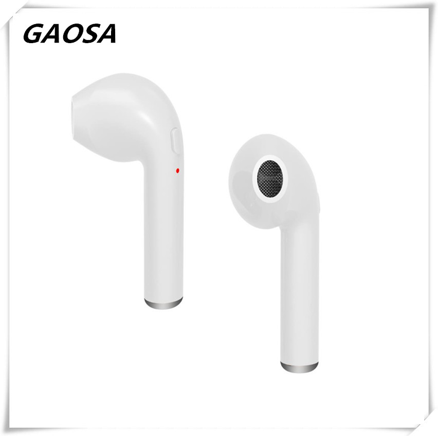 bluetooth earphone headphone HBQ i7 single in-ear  wireless bluetooth earbud with Mic,V4.2 HIFI stereo headset  for all phones.