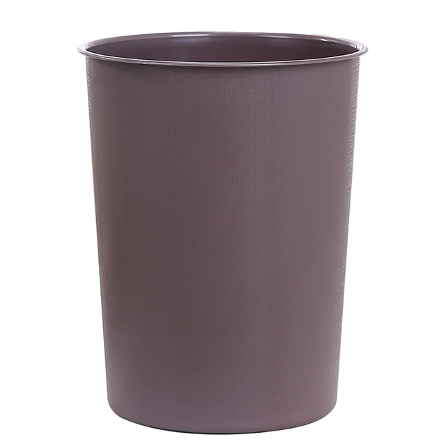 Household Plastic Round Lidless Trash Can Office Living Room Kitchen Garbage Bin