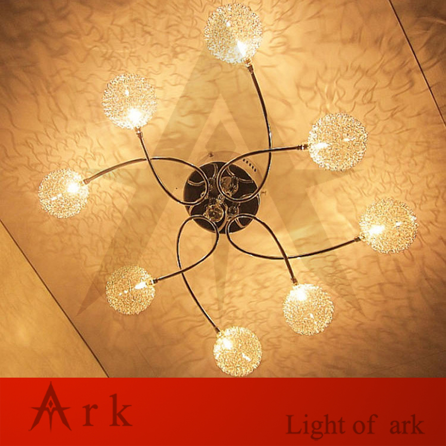 цены ark light Original New Modern Siver Aluminum ball LED CEILING Lamp Living Room Light Bedroom Study Room ceiling LAMP
