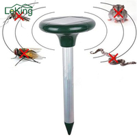 Efficient Solar Powered Ultrasonic Sonic With 2 LEDS Mouse Mole Vole Cat Bird Snake Rodent Repeller