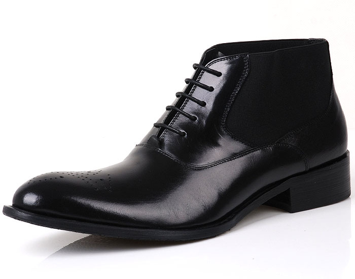 Autumn and winter high end comfortable men tall boots dress shoes ...