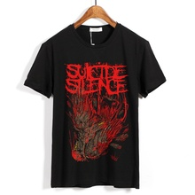 28 дизайнов уличная рокер camiseta 3D Череп Кость самоубийц тишина рок хлопковая рубашка фитнес панк тяжелый металл демон настроить