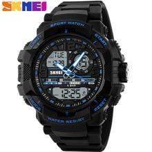SKMEI Marca de Moda Para Hombre LED Digital Deportivo Reloj de Cuarzo Relogio masculino 50 m Impermeable de Los Hombres Relojes Deportivos