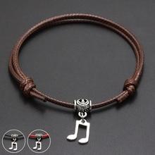 e04a127c1416 2019 nueva música colgante símbolo rojo hilo cadena pulsera suerte café  negro cuerda hecha a mano de la pulsera para las mujeres.