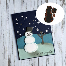 Cute Snowman Carbon steel Cutting Dies Stencil Craft for DIY Creative Scrapbook Cut Stamps Dies Embossing Paper Hand Craft
