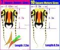 O envio gratuito de new design 10 metros quadrados trilobites macio pipa nylon ripstop tecido pipa voando mais alto easy hcxkite fábrica