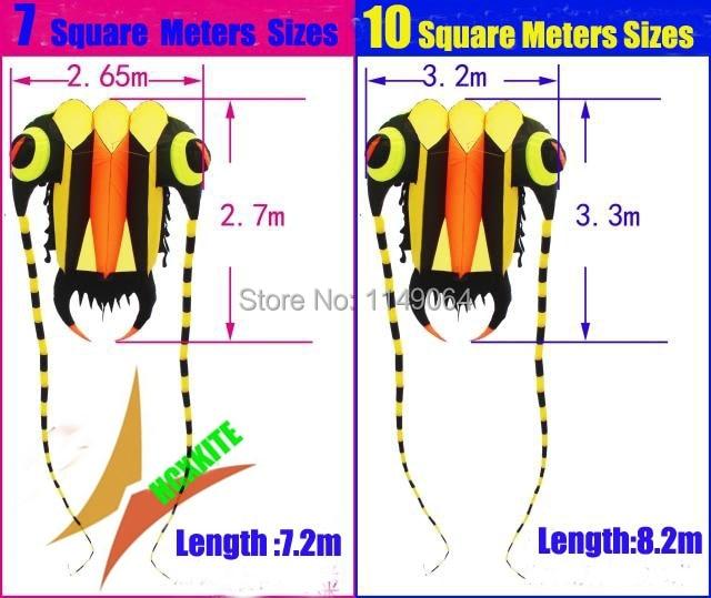 free shipping new design 10square meters trilobites soft kite ripstop nylon fabric kite flying higher easy hcxkite factory