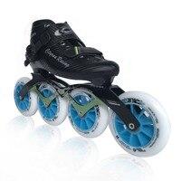 Профессиональный Скорость Роликовые коньки углерода inline скорость катание обувь взрослых ребенок роликовые коньки Patins скорость на роликах