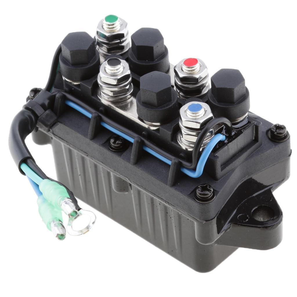 מזגנים 1 יח 2 Trim כוח 12V חוט Plug & ממסר עבור 40-225HP ימאהה 4 Stroke חיצון מנוע וכו Repalce 63P-81950-00-00 (1)