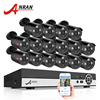 ANRAN 16CH HDMI DVR Surveillance Kit Home Video CCTV System 1080N AHD 720P 1800TVL IR Outdoor