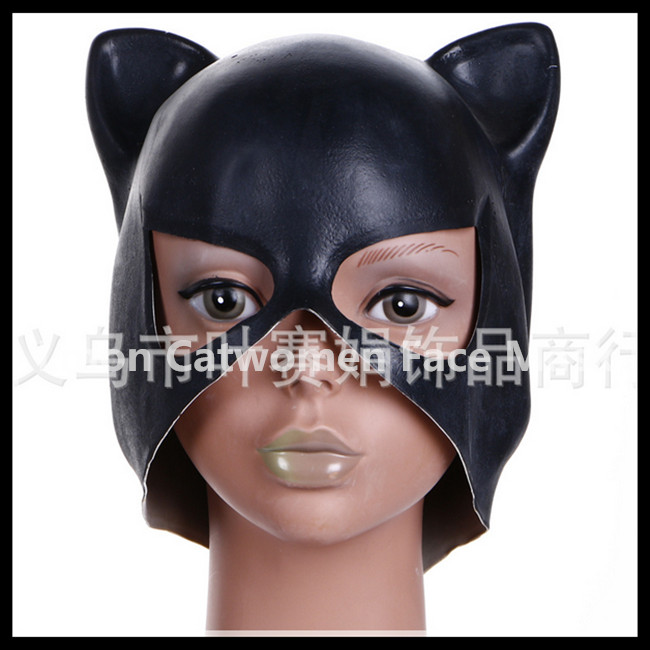 2016 Latex Cat Woman Halloween Masks Girls Party Masks Women Cat Animal Party Mask Masquerade Party Nightclub Girls Cosplay Mask image