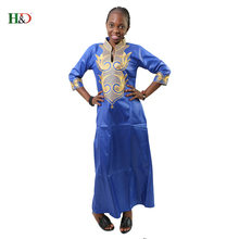 H&D Dashiki African  Cotton Dresses For Women Top Bazin African Traditional Private African Custom Clothes dashiki  one piece